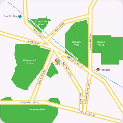 Highgate Primary School - Map